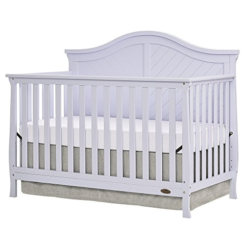 - Dream On Me Kaylin 5 in 1 Convertible Crib, Lavender Ice