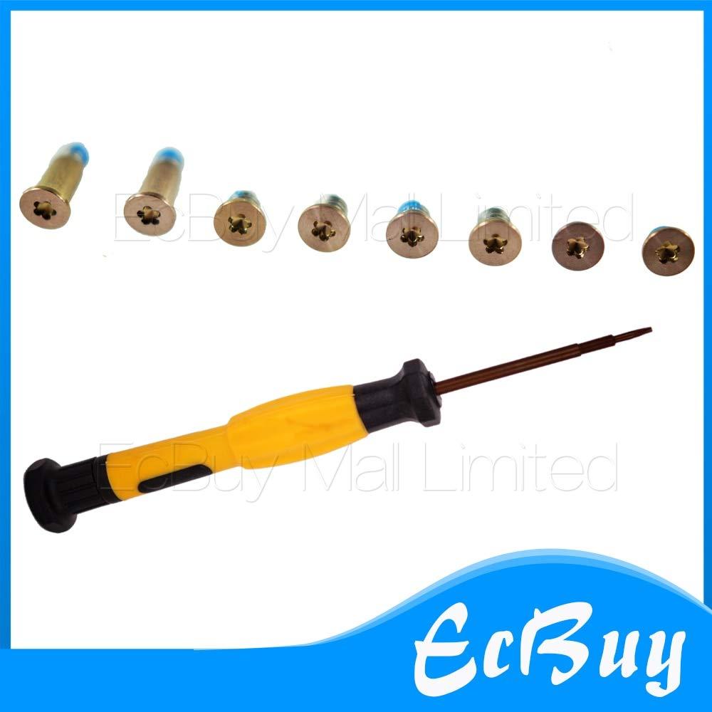 Computer Cables Yoton 8pcs/Lot Rose Gold Bottom Case Screw Screws+Screwdriver for 12'' MacBook A1534 - (Cable Length: 10sets, Color: Rose Gold)