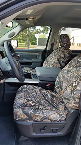 Durafit Seat Covers DG31 Lost C, Seat Covers Made in Lost Camo Endura for 2011-2016 Dodge Ram Crew Cab SLT Front and Back Seat Set DG31-Lost C