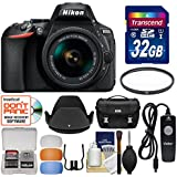 Nikon D5600 Wi-Fi Digital SLR Camera & 18-55mm VR DX AF-P Lens 32GB Card + Case + Filter + Hood + Remote + Flash Diffusers + Kit