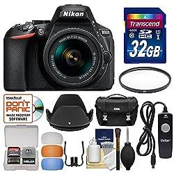 Nikon D5600 Wi-fi Digital Slr Camera & 18-55mm Vr Dx Af-p Lens With 32gb Card + Case + Filter + Hood + Remote + Flash Diffusers + Kit