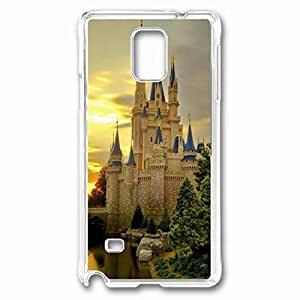 Nature Castle Custom Back Phone Case for Samsung Galaxy Note 4 PC Material Transparent -1210286 WANGJING JINDA