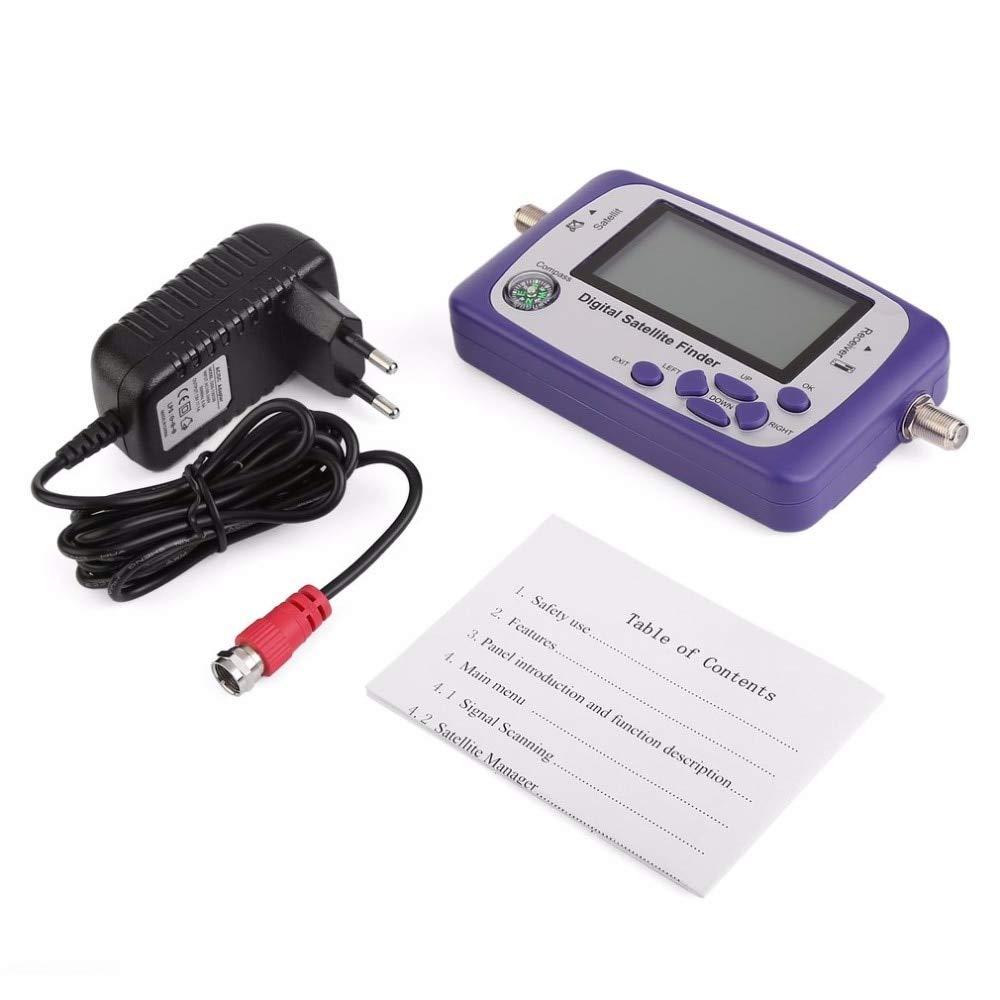 JIAIIO Digital Displaying Satellite Finder Meter Satfinder TV Signal Receiver Sat Decoder Satlink Receptor Buzzer LCD FTA Dish by JIAIIO