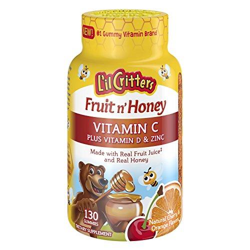 L'il Critters Fruit N' Honey Bee Immune Super C Plus Booster, 130 Count