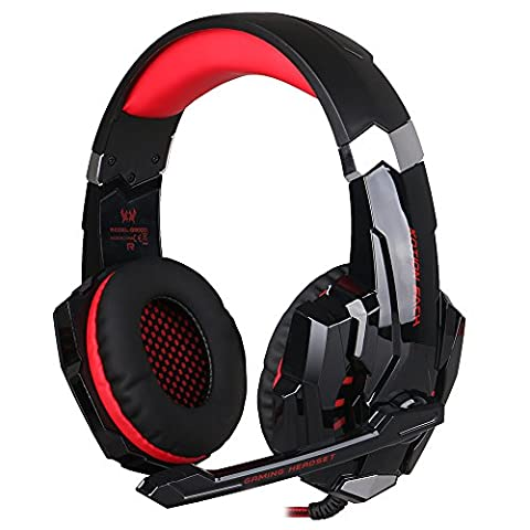 BlueFire 3.5mm Gaming Headset for PlayStation 4 PS4 Xbox One Games Tablet PC, Over Ear Headphone with Microphone LED Light for Laptop Mac Nintendo Switch Controller (Ps Four Headset)