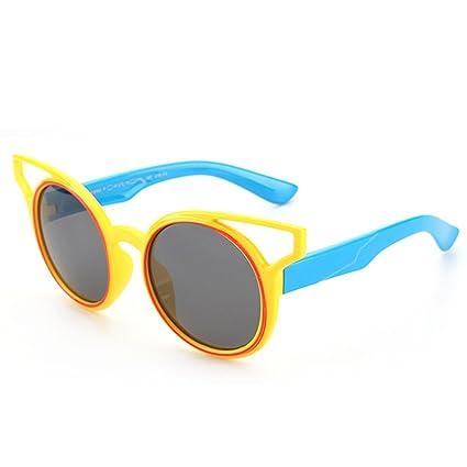 Niños Personalidad niños Gafas de Sol polarizadas Suave y cómodo Protección UV400 Lentes Reflectantes para niñas