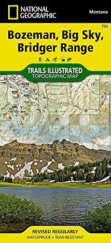 Bozeman, Big Sky, Bridger Range (National Geographic Trails Illustrated Map) by National Geographic Maps - Trails Illustrated - Mall Bozeman