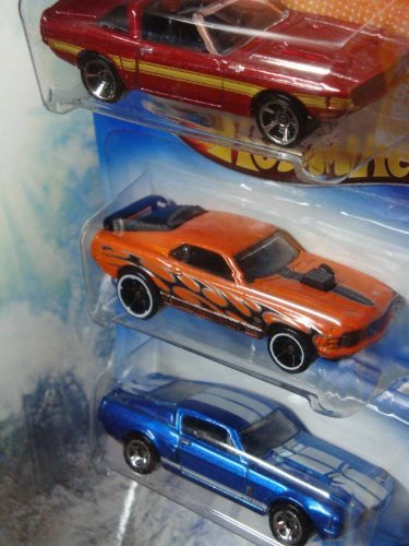 Hot Wheels Detailed Diecast 69 Shelby GT-500 - 70 Ford Mustang Mach 1 - 67 Shelby GT-500 1/64 Scale