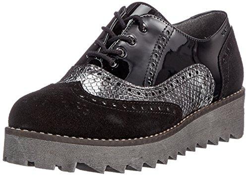Katy para Schwarz Black Derby Cordones Zapatos Marc Shoes de combi 444 Mujer 5aqw6n1T