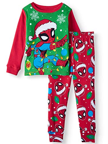 Marvel Spider-Man Little Boys Toddler Christmas Pajama Set (5T)