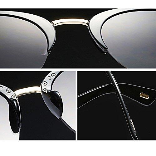 de Rimless Semi Diseñador Color Lente Las Sunglass Gafas D La Más Mujeres Mujeres de de Claro de la Oculos Marca Moda Gafas Sol Vendimia para B Sol Nuevo Gafas xx8q0Yzw
