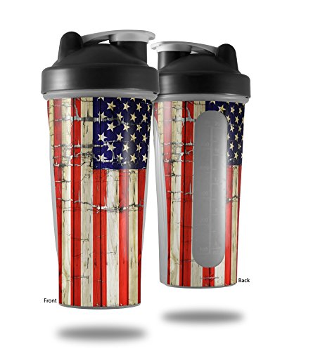 - Painted Faded and Cracked USA American Flag - Decal Style Skin Wrap fits Blender Bottle 28oz (BOTTLE NOT INCLUDED)