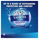 Tampax Pearl Tampons with Plastic Applicator, Light Absorbency,200 Count,  Unscented