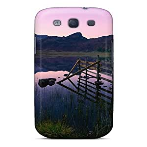 Excellent Galaxy S3 Case Tpu Cover Back Skin Protector Beautiful Lake At Dusk