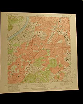 Louisville West Shively Kentucky Indiana vintage Ohio R 1987 USGS Topo map chart