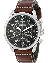 Men's Eco-Drive Stainless Steel Chronograph Watch with Date, CA4210-24E