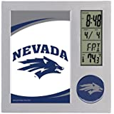 WinCraft NCAA University of Nevada- Reno Desk Clock, Black