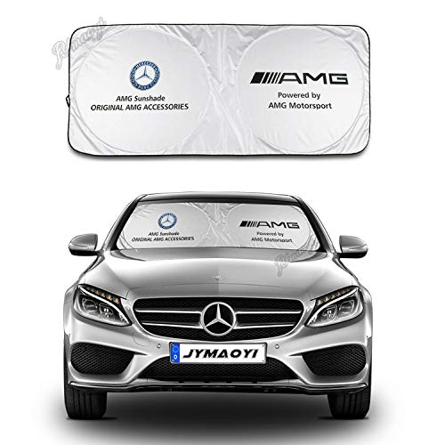 JYMAOYI Benz Sunshade Windshield Visor Cover Car Window Sun Shade UV Protect Car Window Film for Most Benz AMG A B C CLA GLA Class W176 W246 W204 W205 W212 CLS-Class C218 W221 GLA-Class GLA W156 etc