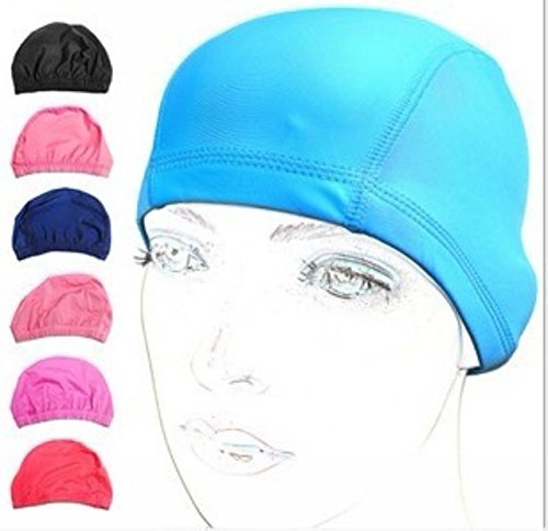 Nylon Womens Swimsuit (EWIN(R) 3pcs Lycra swimsuit cloth pure color swimming cap/swim cap/swimming hat for adult men)