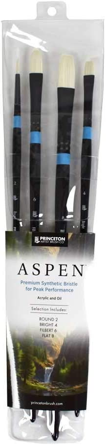 Glare-Free Indoor//Outdoor Brush for Acrylic /& Oil Series 6500 Filbert Synthetic Princeton Aspen Size 2