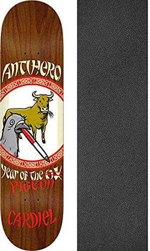 しょっぱいワゴン条件付きAnti Hero Skateboards John Cardiel Year of the Pigeonスケートボードデッキ – 8.62