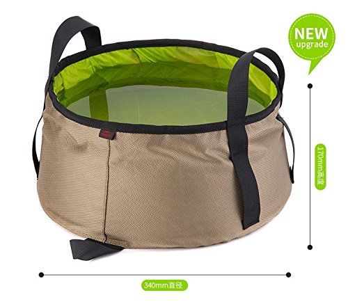 Elfin's Pocket 10L 折りたたみ式 洗面台 ポータブル バケツ 折りたたみ式 水容器 キャンプ 釣り アウトドア ハイキング用 B073RDKF93