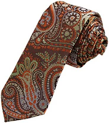 DAE7B.05 Various Patterned Microfiber Skinny Tie Factory For Husband By Dan Smith