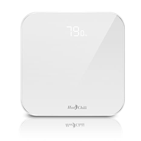 Hot Chili Báscula de Baño Digital, Balanza Electrónica para Pesarse, con Tecnología Step-