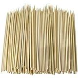 Lot de 500 brochettes à apéritif en bambou 15 cm idéal pour les barbecues, brochettes, fruits, fontaines &les Fondues au chocolat