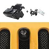 E-cowlboy Hood Lock Anti-Theft Alarm System Kit Assembly For 2007-2018 Jeep Wrangler JK JKU 2WD 4WD 82213051-AB