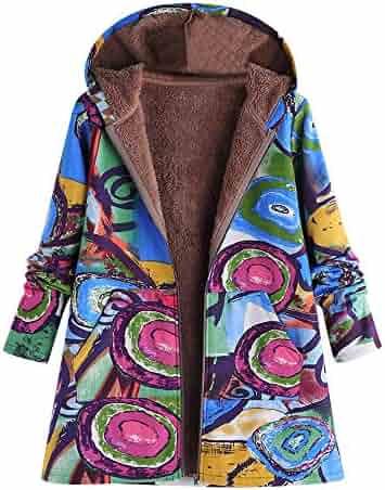 Sttech1 Women Cotton Linen Plus Size Velvet Long Sleeve Hooded Padded Coat Jacket Coat