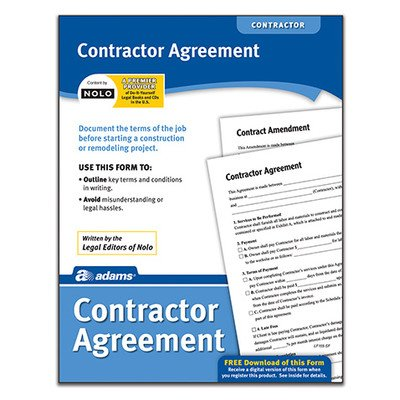 Contractor Agreement Forms and Instruction (Set of 288) [Set of 6]