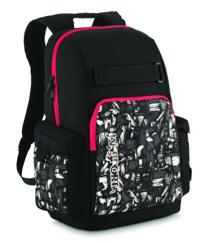 JanSport Scraper Core Series Daypack (Black/High Risk Red Glare), Outdoor Stuffs