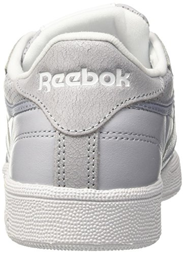 Metallic Chaussures noir C white De Gris silver Grey Skull Reebok Fbt Running 85 Grey Club Femme cloud qUIwOf