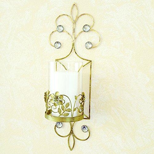 Antique Gold Pillar Candle Holder Sconces San (Lis Sconce Vase)