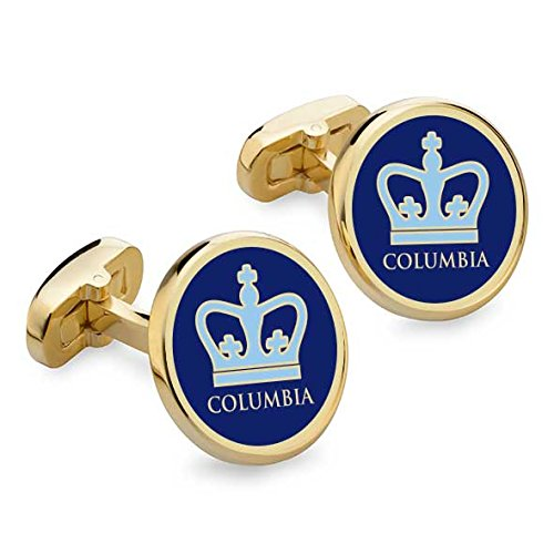 NCAA Columbia Lions Mens by M.LaHart & Co.Columbia Enamel Cufflinks, Multicolor, One Size