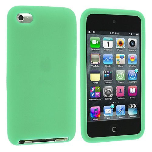 Soft Gel Silicone Skin Case Cover for Apple iPod Touch 4G, 4th Generation - Green