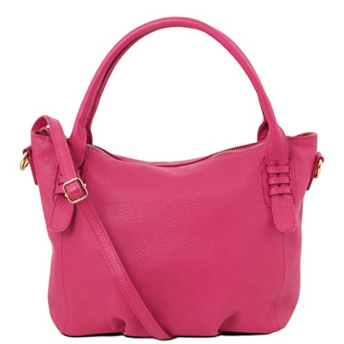 Main Souple Leather Sac Cuir à Tuscany en TLBag Magenta Magenta 7IqBg