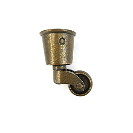 Amazon Com Antrader Metal Swivel Round Cup Caster Bronze Tone