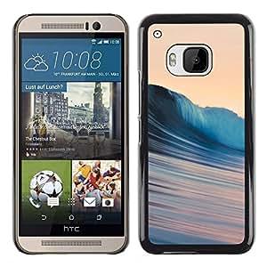 EJOY---Cubierta de la caja de protección la piel dura para el ** HTC One M9 ** --Ondas sedosas