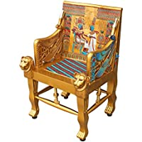 Design Toscano King Tutankhamens Egyptian Throne Arm Chair