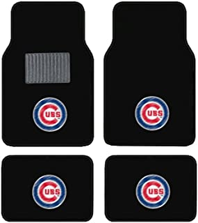 product image for A Set of 4 Universal Fit Front and Rear Logo Plush Carpet Floor Mats