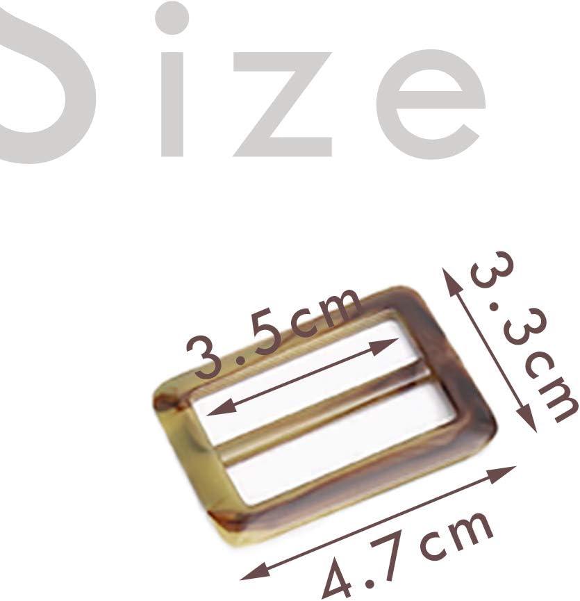 iSuperb 20 pcs Hebillas Slide Rect/ángulo Ajustable Cincha deslizante sujetadores correa mochila cintur/ón maleta DIY accesorios 20 Hebillas