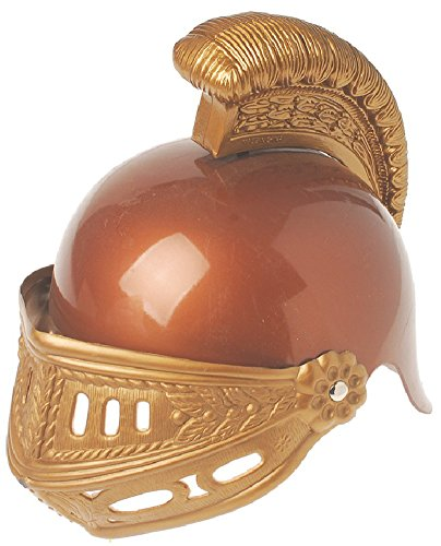 [New Deluxe Child Roman Gladiator Costume Trojan Helmet by US Toy] (Trojan Halloween Costumes)