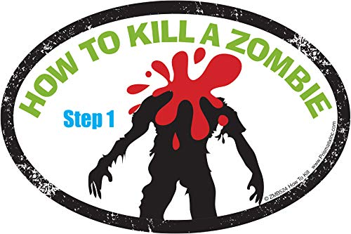 Zombies vs. Hunters Decals: How to Kill Magnet - Zombie Apocalypse is Coming (car Magnets, Halloween, How to Kill) ()