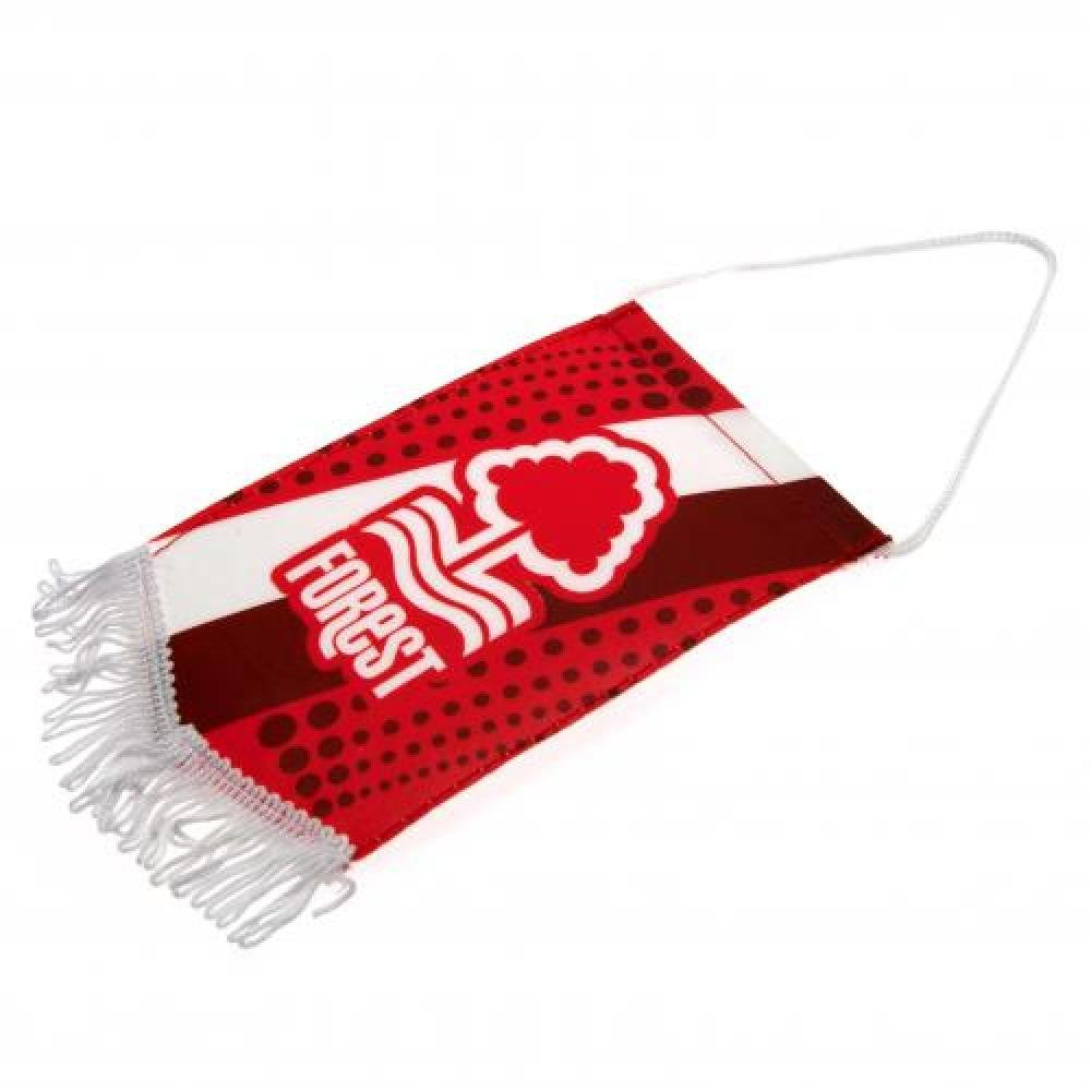 Car Accessories - Official Nottingham Forest FC Mini Pennant - Novelty Football Gift Ideas ONTRAD Limited