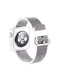 Celendi Refinement Release Sports Woven Nylon Bracelet Strap Band For Apple Watch Series 1/2/3 38mm (Gray)