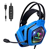 BENGOO USB Pro Gaming Headset for PC PS4, 7.1