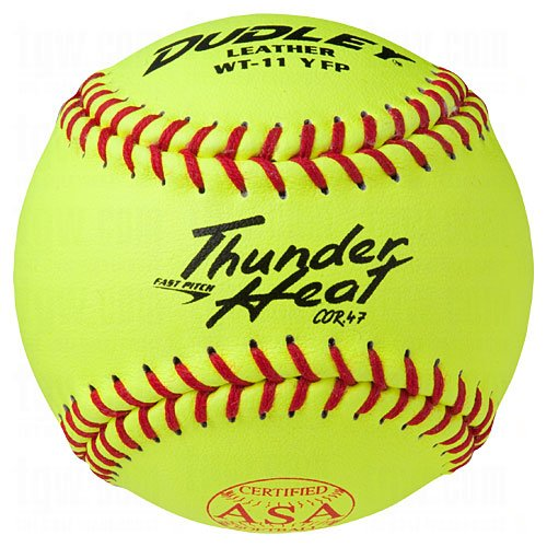 Dudley Asa Thunder Heat Fast Pitch Softball 11'' 12 Ball Pack by Dudley