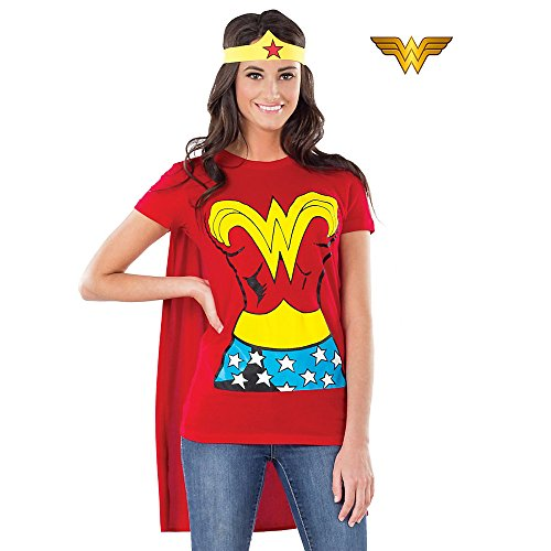 Rubie's Costume DC Comics Wonder Woman T-Shirt With Cape And Headband  Red - http://coolthings.us
